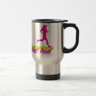 Zombies Hate Fast Food (Girls) 15 Oz Stainless Steel Travel Mug