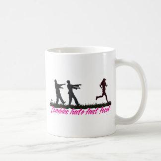 Zombies Hate Fast Food (Girls) Classic White Coffee Mug