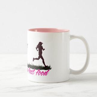 Zombies Hate Fast Food (Girls) Two-Tone Coffee Mug
