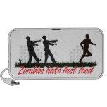 Zombies Hate Fast Food iPod Speakers