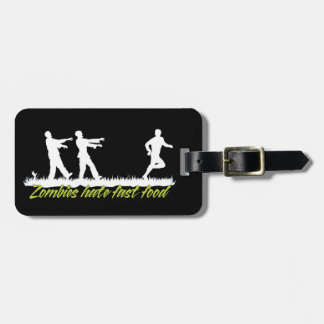 Zombies Hate Fast Food Luggage Tag