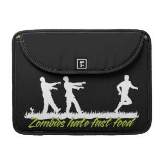Zombies Hate Fast Food MacBook Pro Sleeves