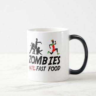 Zombies hate fast food magic mug