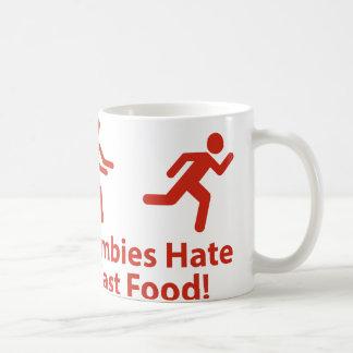 Zombies Hate Fast Food Classic White Coffee Mug