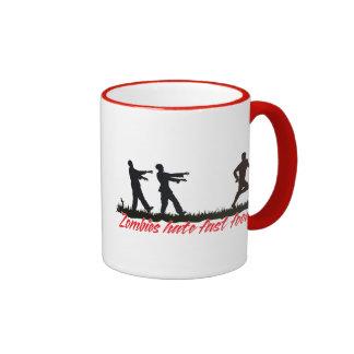 Zombies Hate Fast Food Ringer Coffee Mug