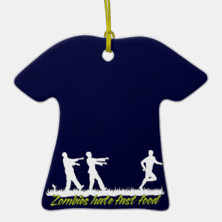 Zombies Hate Fast Food Ceramic T-Shirt Decoration