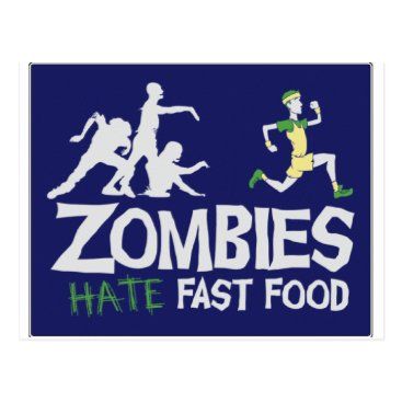 McZazzler Zombies HATE Fast Food Postcard