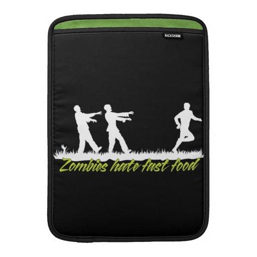 Zombies Hate Fast Food Sleeves For MacBook Air
