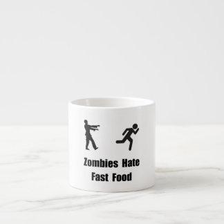 Zombies Hate Fast Food 6 Oz Ceramic Espresso Cup