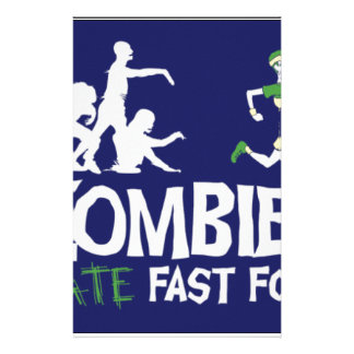 Zombies HATE Fast Food Stationery