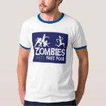 Zombies Hate Fast food Tee Shirts