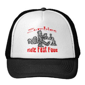 Zombies Hate Fast Food Trucker Hat