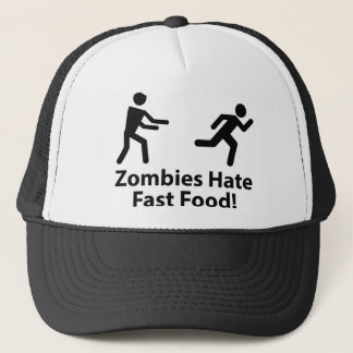 Zombies Hate Fast Food Trucker Hat
