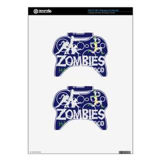 Zombies HATE Fast Food Xbox 360 Controller Decal
