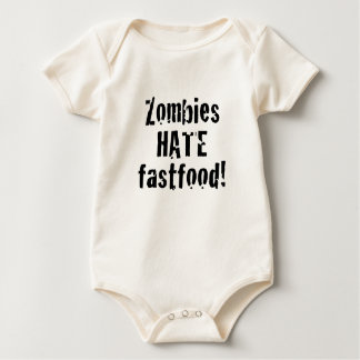 Zombies Hate Fastfood Baby Bodysuit