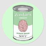 Zombie's Human Brain Soup Round Sticker