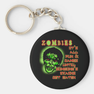 Zombies Humor Basic Round Button Keychain