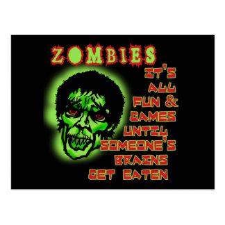 Zombies Humor Postcard
