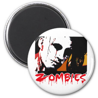 Zombies Hunter 2 Inch Round Magnet