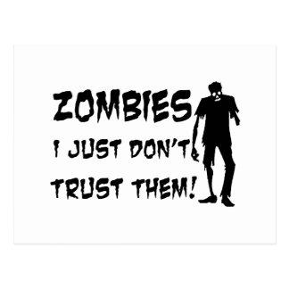 Zombies I Just Dont Trust Them Postcard