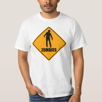 Zombies Icon Yellow Diamond Warning Road Sign T-Shirt