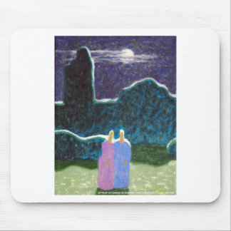 Zombies in the Moonlight Mouse Pad