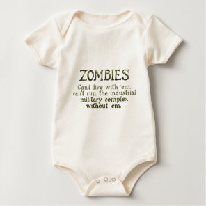 Zombies Industrial Military Complex Baby Bodysuit