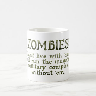 Zombies Industrial Military Complex Magic Mug