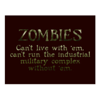 Zombies Industrial Military Complex Postcard