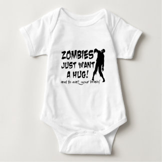 Zombies Just Want A Hug Baby Bodysuit