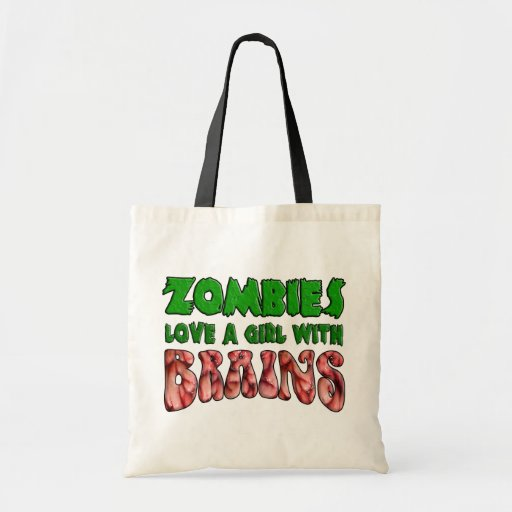Zombies Love a Girl with Brains Bags