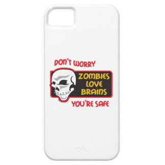 ZOMBIES LOVE BRAINS iPhone 5 CASES