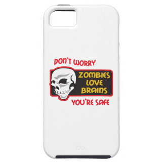 ZOMBIES LOVE BRAINS iPhone 5 COVER