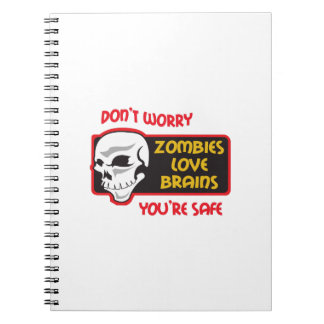 ZOMBIES LOVE BRAINS NOTE BOOK