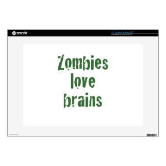 Zombies Love Brains Laptop Decals