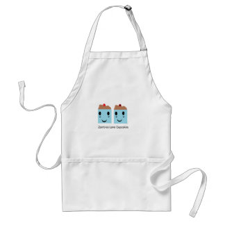 Zombies Love Cupcakes Adult Apron