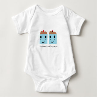 Zombies Love Cupcakes Baby Bodysuit