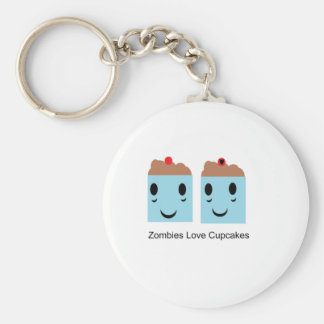 Zombies Love Cupcakes Basic Round Button Keychain