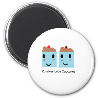 Zombies Love Cupcakes 2 Inch Round Magnet