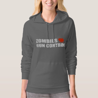 Zombies love Gun Control - 2nd Amendment Hoodie