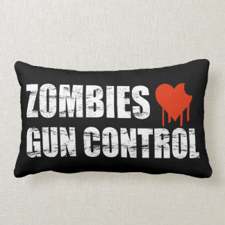 Zombies love Gun Control - 2nd Amendment Lumbar Pillow