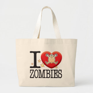 Zombies Love Man Large Tote Bag