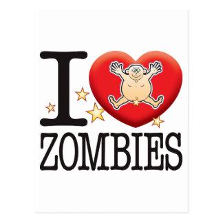 Zombies Love Man Postcard