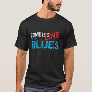 Zombies Love The Blues Dark T-Shirt
