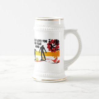 Zombies Love You For Your Mind Beer Stein