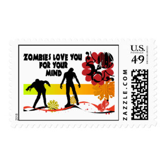 Zombies Love You For Your Mind Stamp