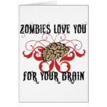 Zombies Love Your Brains Greeting Cards