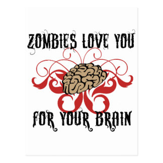 Zombies Love Your Brains Postcard