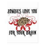 Zombies Love Your Brains Postcards