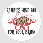 Zombies Love Your Brains Sticker